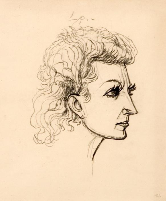 Jacqueline, vers 1940, par André Masson