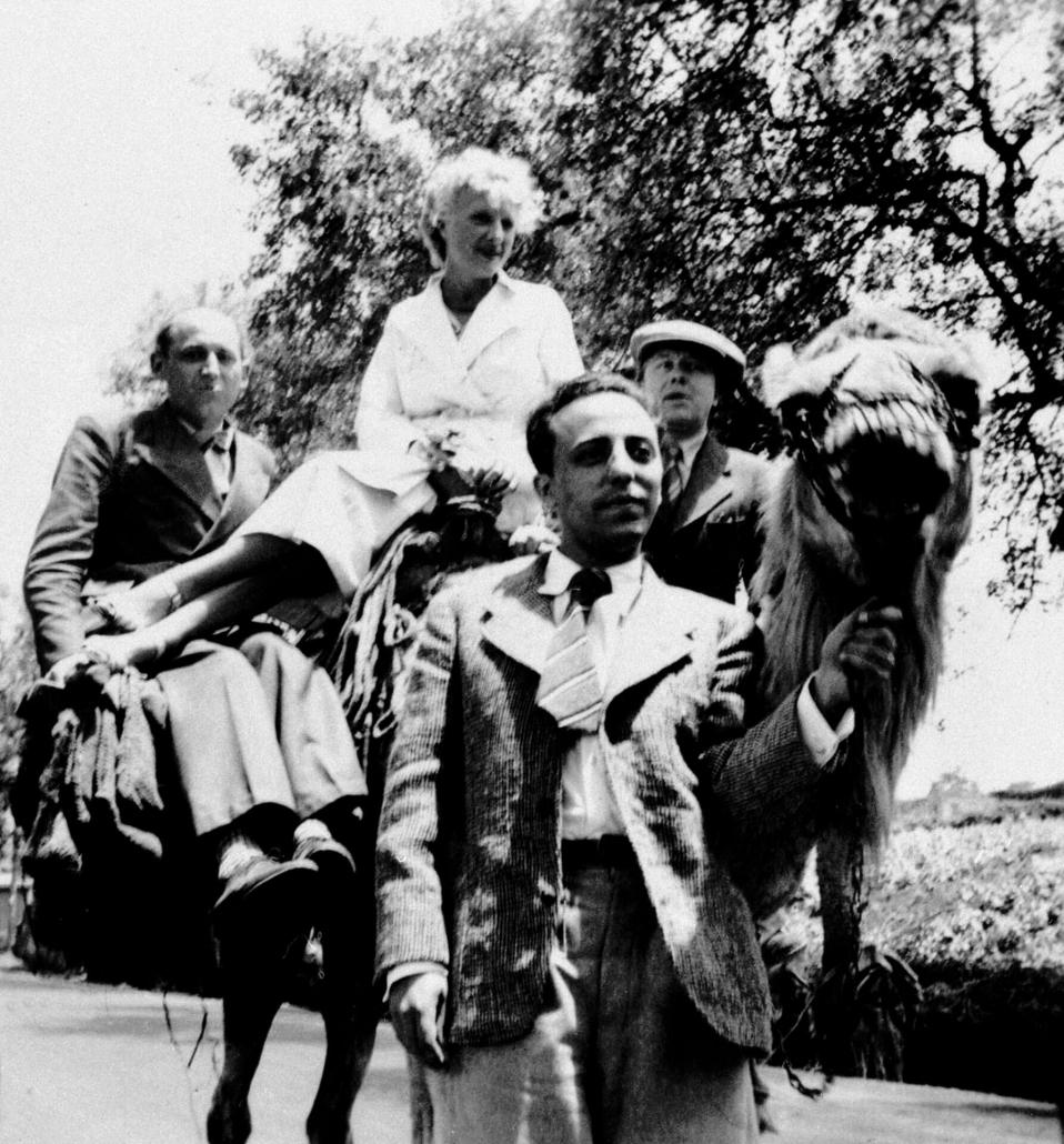 Benjamin Péret, Jacqueline et André Breton, Domingo Lopez Torres, Canaries, 1935