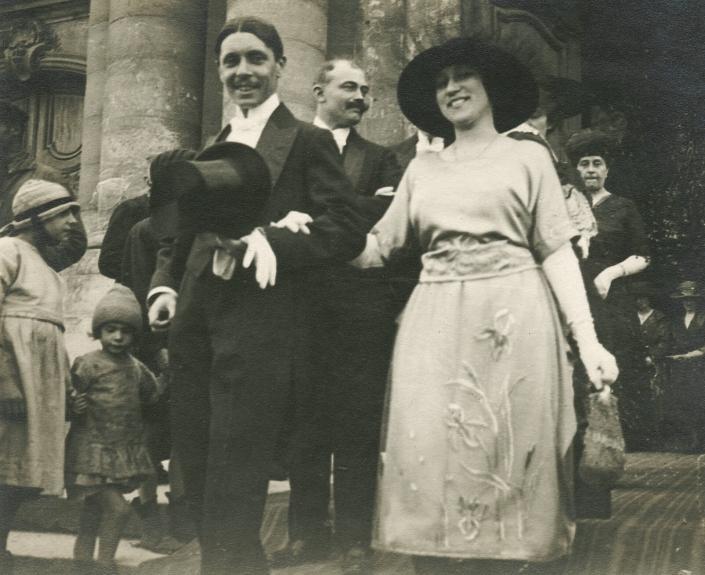 Mariage de Lucy Pinon et de Jean Périnard en 1915