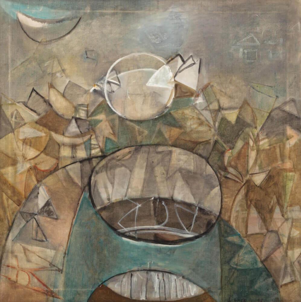 Le Puits, 1942. Huile sur toile, 82cm x 82cm