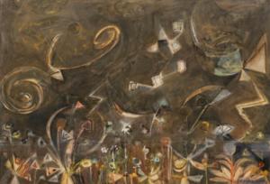 Roxbury, astres, 1946. Huile sur toile,76 x 101 cm