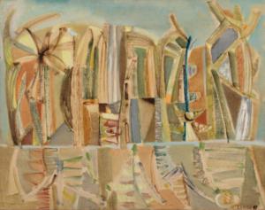 Reflets, 1947. Huile sur toile, 72,5 x 92 cm
