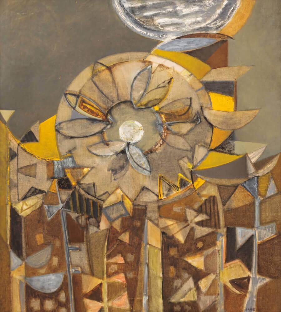 Tournesol, 1948. Huile sur toile.
