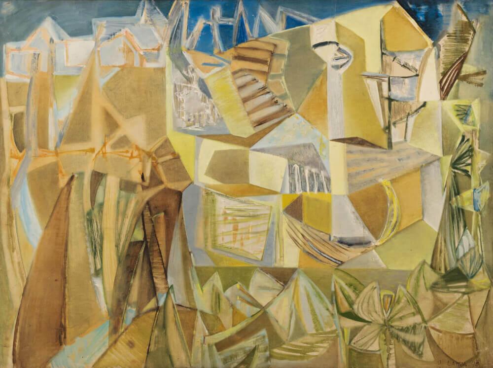Maison dans la forêt, 1948. Huile sur toile, 100 x 134 cm