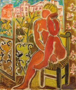 Nu rouge, 1953. Huile sur toile, 89,5 x 76 cm
