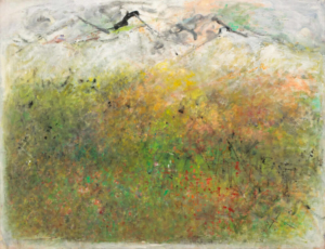Plaine de Simiane, 1964. Huile sur toile, 88,5 x 116 cm