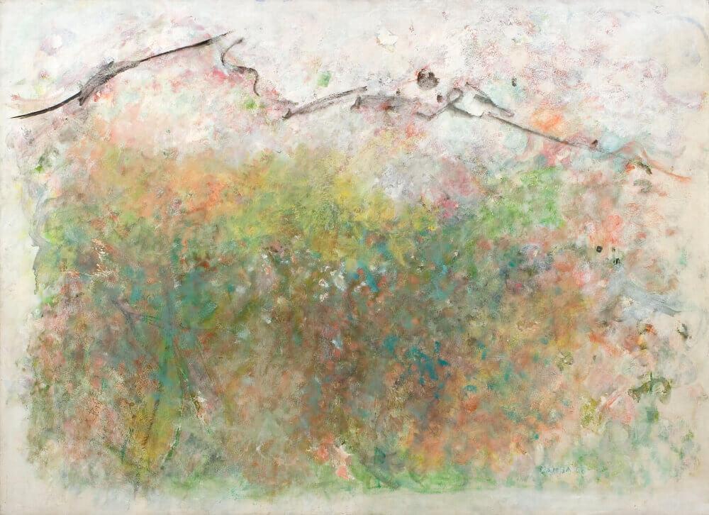 Montagnes de Bouyon, 1968. Huile sur toile, 111,5 x 153 cm