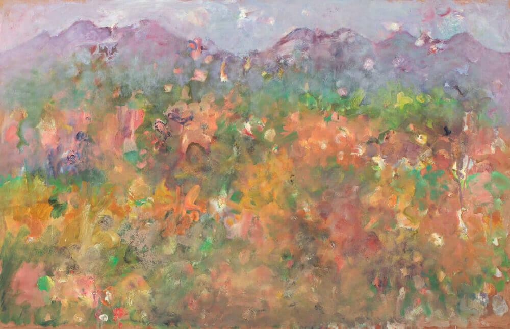 Sans titre (Paysage), 1970. Huile sur papier kraft collée sur carton, 60 x 93,5 cm