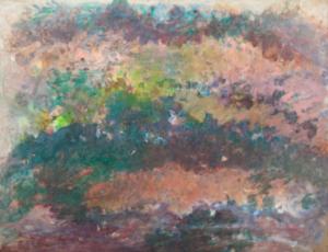 Sans titre, 1969. Huile sur contreplaqué, 88 x 115 cm