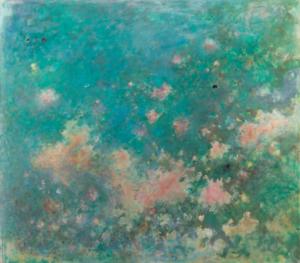 Sans titre (Nuages roses), 1972. Huile sur toile, 120,5 x 135 cm