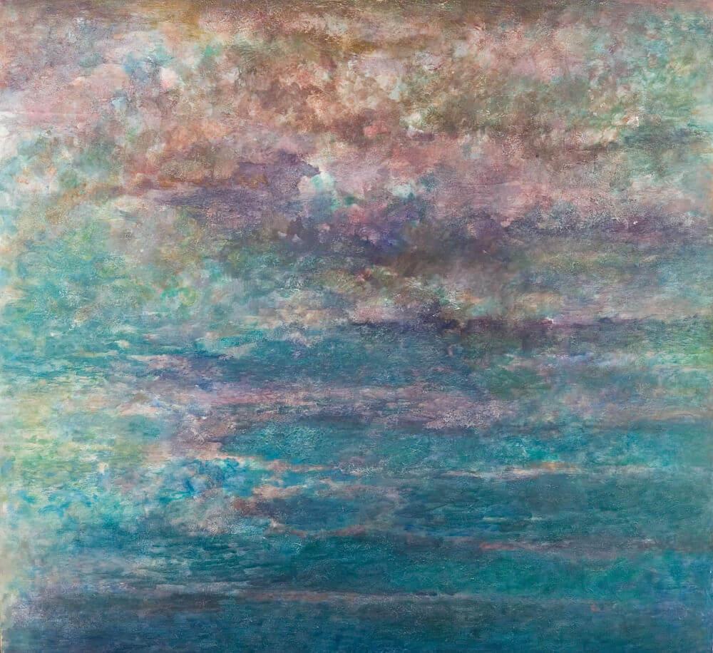 Sans titre (Nuages denses roses), 1975. Huile sur toile, 140 x 152 cm