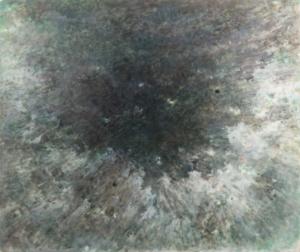 Sans titre (Ciel noir) 1985. Huile sur toile, 124 x 147 cm