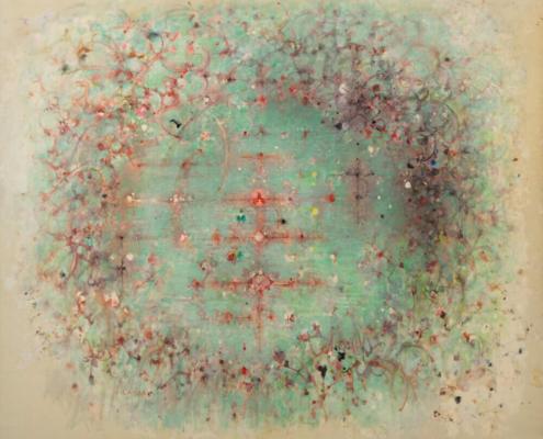 Fleurs d'eau, 1970 Huile sur toile, 193 x 222 cm