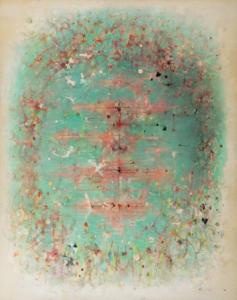 Étang ovale, 1980. Huile sur toile, 194,5 x 154,5 cm