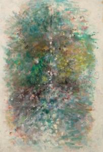 Sans titre (Source verte), 1986. Huile sur papier, 104 x 70,5 cm