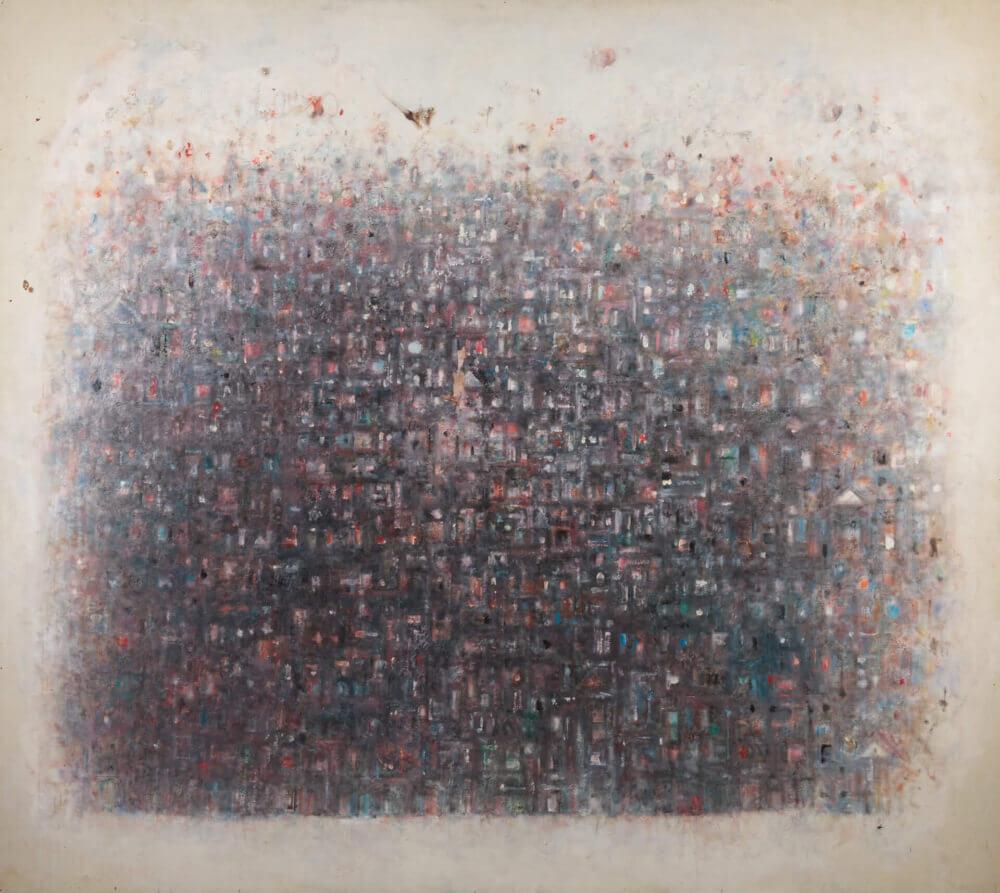 Ville au crépuscule, 1970. Huile sur toile, 140 x 157,5 cm