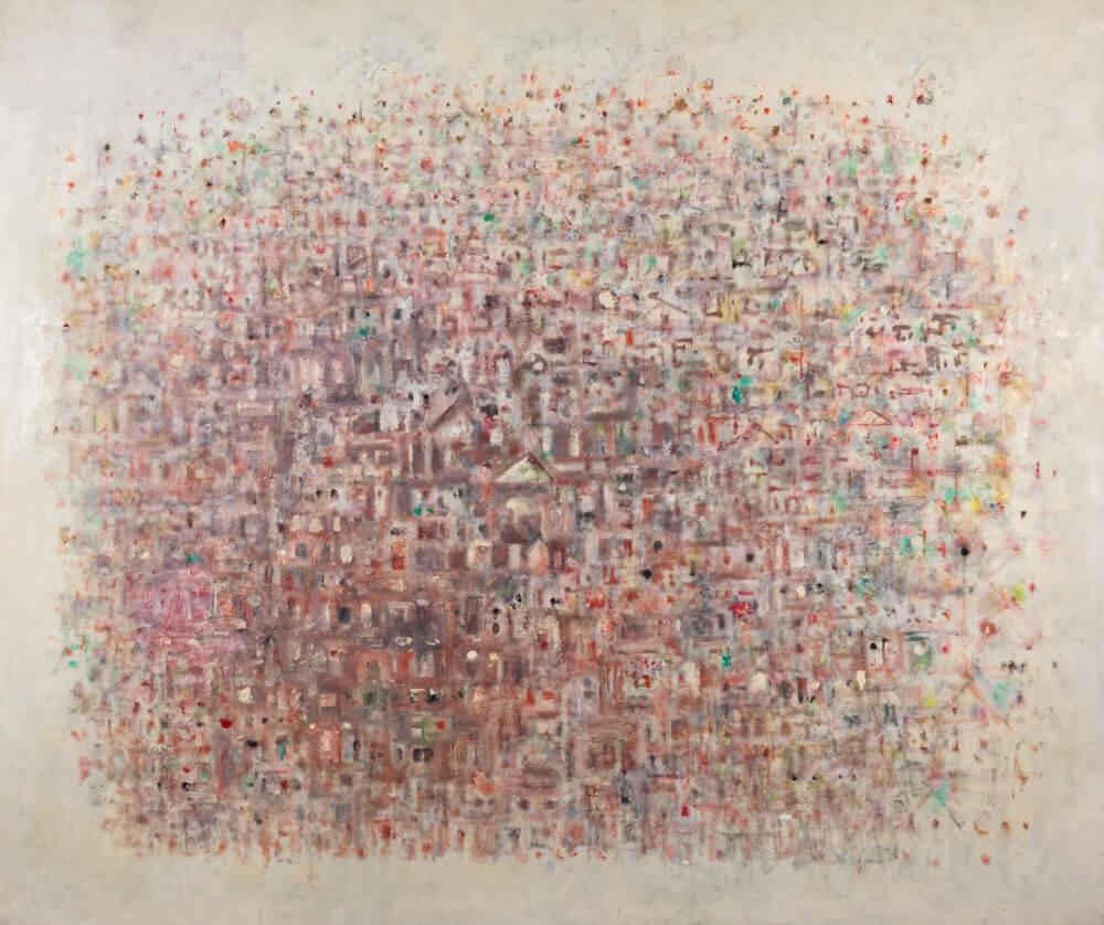 Sans titre (Ville de jour), 1970. Huile sur toile, 107 x 126,5 cm