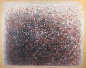 Sans titre (Paris, panorama), 1971. Huile sur toile, 76 x 91 cm
