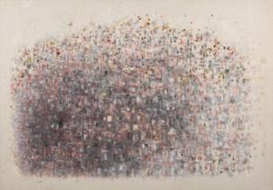 Sans titre (Ville mauve), 1983. Huile sur toile, 66 x 93,5 cm