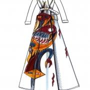 Dessin manteau Dior Jacqueline Lamba 2020